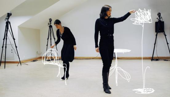 front motion capture process