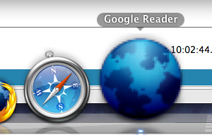 Google reader in dock via prism
