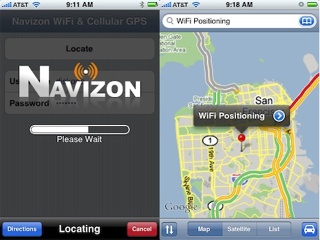 iPhone Navizon