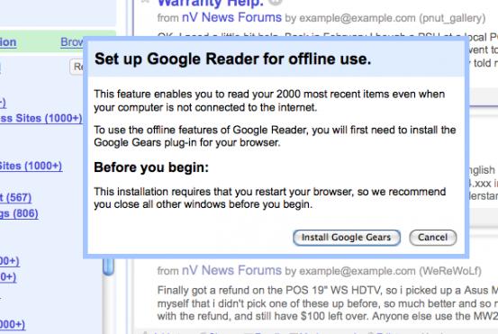 Google Gears in Mozilla Prism?