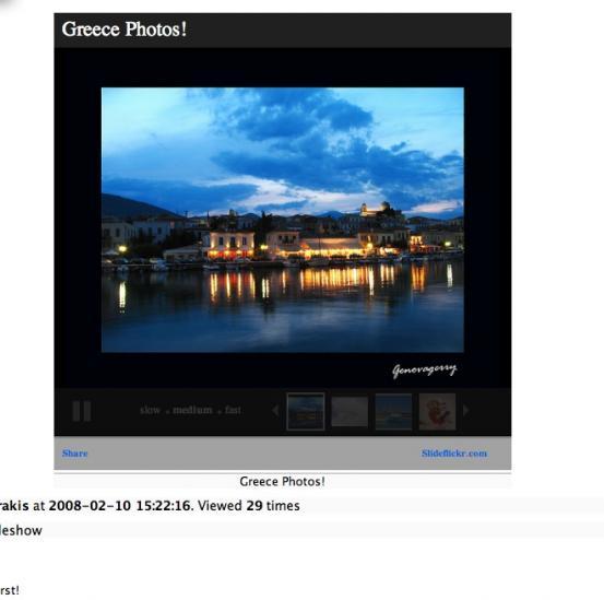 slideshow page